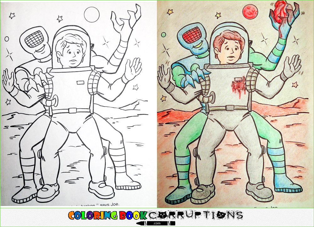 Making Contact | Coloring Book Corruptions
