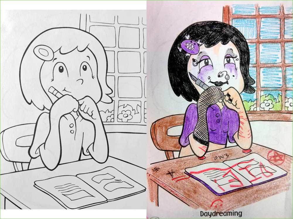 Corrupted Disney Coloring Books The Slightly Warped Website