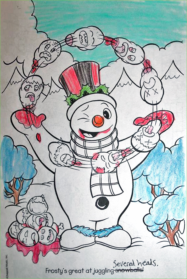 guest post frostys friends - Dirty Coloring Books