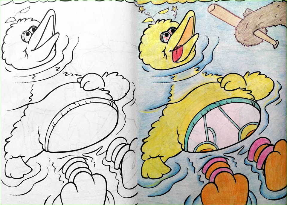 guest post big bird - Dirty Coloring Books