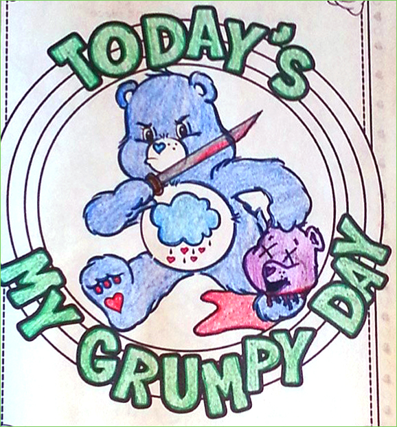 Grumpy Bear - Lolzebracakes