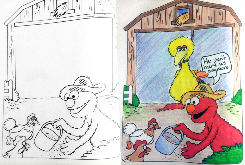 elmo | Coloring Book Corruptions