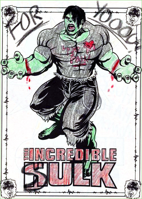 Guest Post Breakup Hulks Tough Exterior Hides An Emotional Heart Thank To The Unknown Person Who Colored This Page