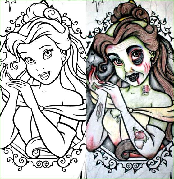 88 Zombie Princess Coloring Pages