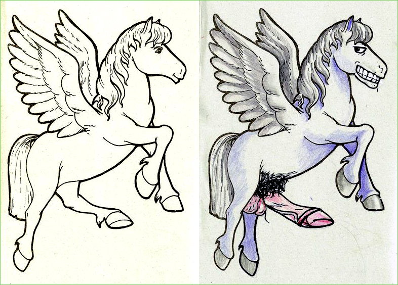 guest post pegasus - Dirty Coloring Books