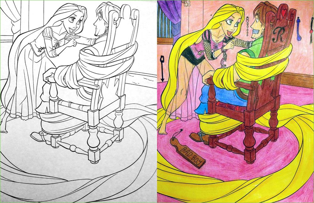 rapunzel | Coloring Book Corruptions