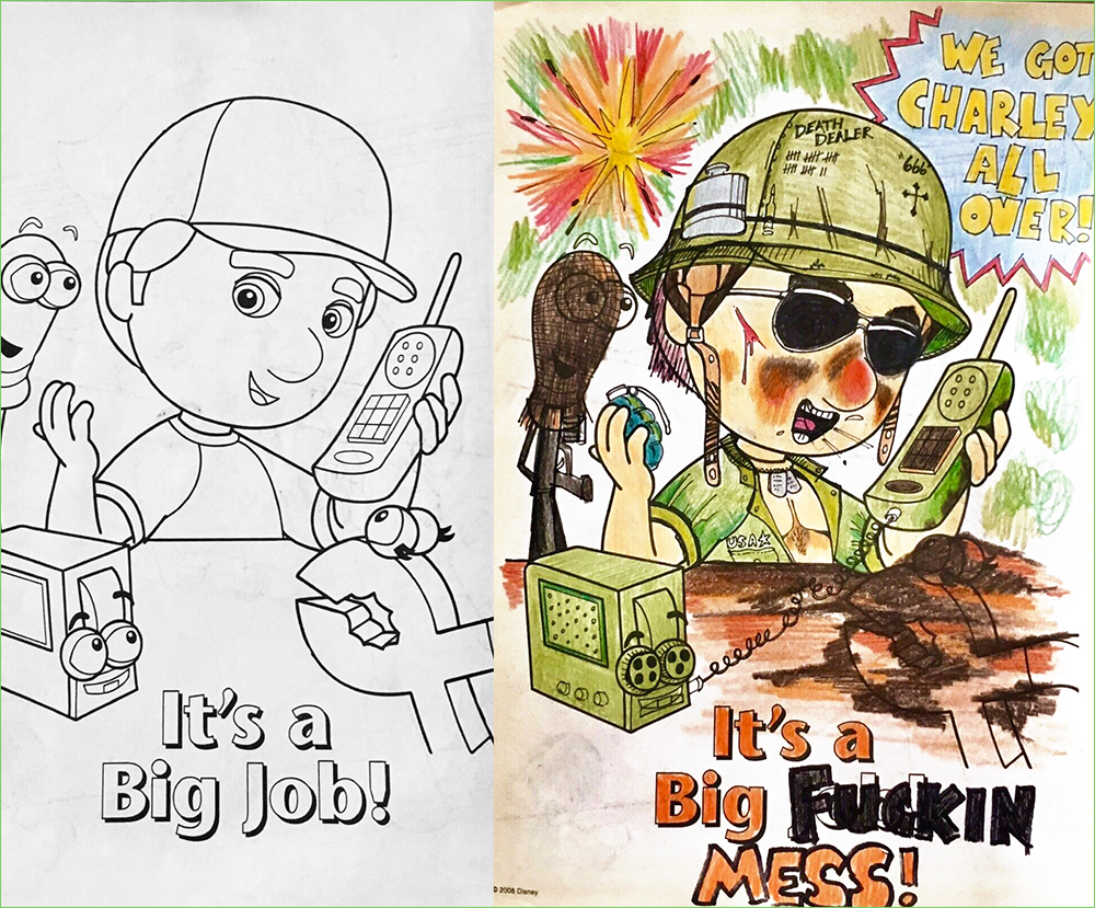 Coloring Book Corruptions Defacing Adorable Coloring Book